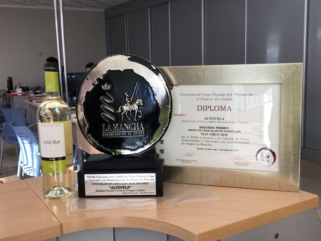 Bodegas Altovela. XXXII Premios a la calidad vinos embotellados de Castilla-La Mancha
